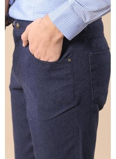 Wessi Erkek Slim Fit Cepli Düz Pantolon Lacivert
